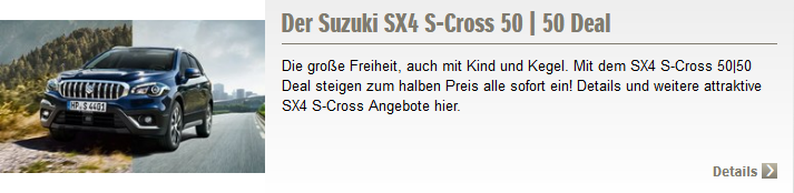 S cross Angebot
